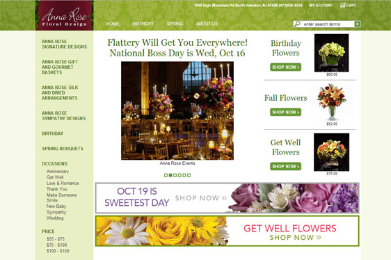 Anna Rose Floral Web Design