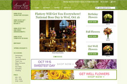 Anna Rose Floral Website Design