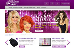 Exciting Hair Web Design