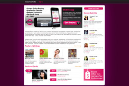 HairSalonFind Web Design