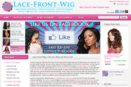 Lace-Front-Wig E-commerce Web Design