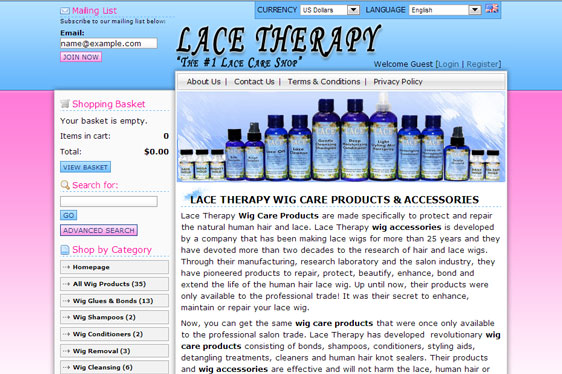 Lace Therapy Web Design