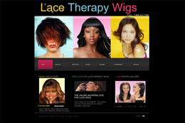 Lace Therapy Wigs Web Design