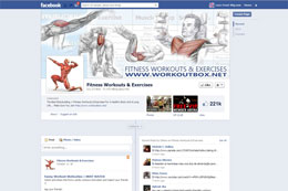Fitness & Workout Facebook Page Design
