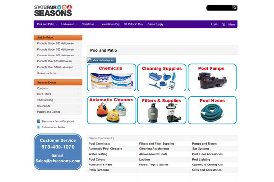 State Fair Seasons Web Design