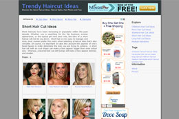 Trendy Haircut Ideas Blog Design